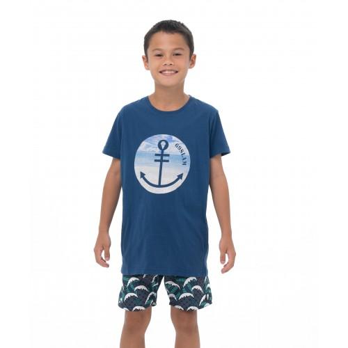 футболка  BEACH ANCHOR S/S T-SHIRT NAVY